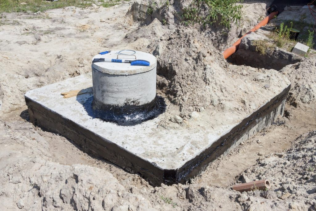 newly repaired septic tank